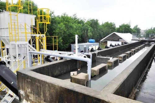 Hình ảnh nhà máy được lắp đặt hệ thống bơm nước thải Pentax nhập khẩu