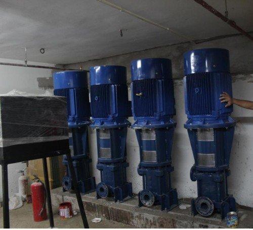 Hệ thống máy bơm pentax công suất lớn sử dụng cấp nước sinh hoạt cho khu tái định cư