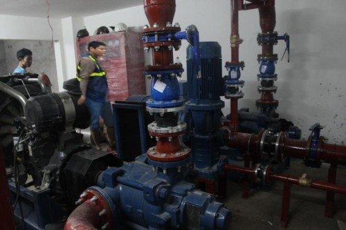 Lắp đặt hệ thống chữa cháy máy bơm Pentax công suất lớn